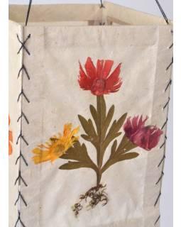 Stínidlo, čtyřboké, lisované květy, 26x17,5cm