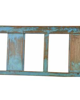 Stará teaková lavice, modrá patina, 158x54x93cm