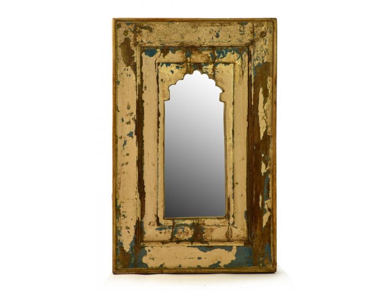 Zrcadlo v rámu antik, teakové dřev, 43x67x4cm