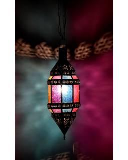 Arabská lampa, multibarevná, mosaz, ruční práce, cca 19x37cm