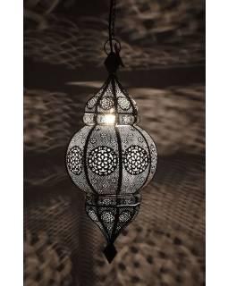 Mosazná lampa v orientálním stylu s jemným vzorem, měděná barva, 22x52cm