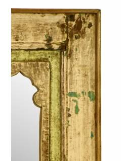 Zrcadlo v rámu z recyklovaného teakového dřeva, 37x74x4cm