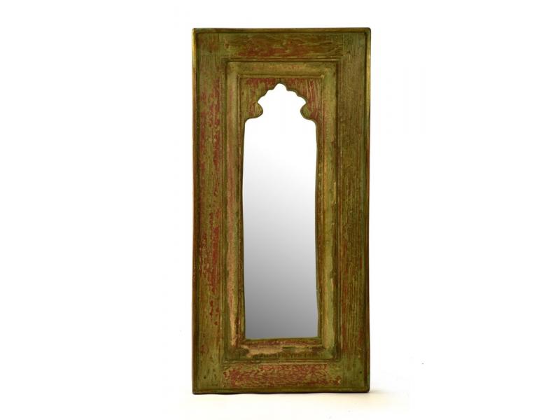 Zrcadlo v rámu z recyklovaného teakového dřeva, 36x74x4cm