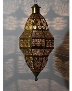 Mosazná orientální lampa, zlatá, ruční práce, 38x60cm