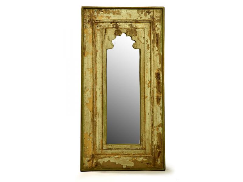 Zrcadlo v rámu z recyklovaného teakového dřeva, 38x75x4cm