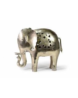 Kovový svícen slon, 24x27x9 cm