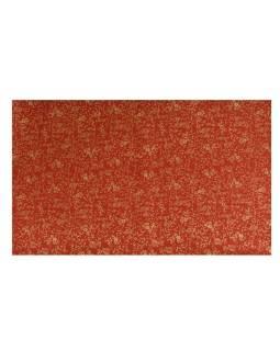 Dárkový ručně dělaný papír se zlatým potiskem lijánek, cca 50x80cm