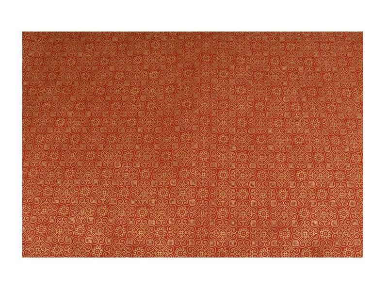 Dárkový ručně dělaný papír se zlatým potiskem slůníček, cca 50x80cm