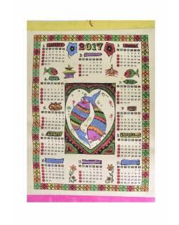 Kalendář, barevný, ryby, jeden list, 46x66cm