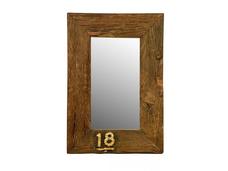 Zrcadlo ze starého dřeva, 51x74x5cm