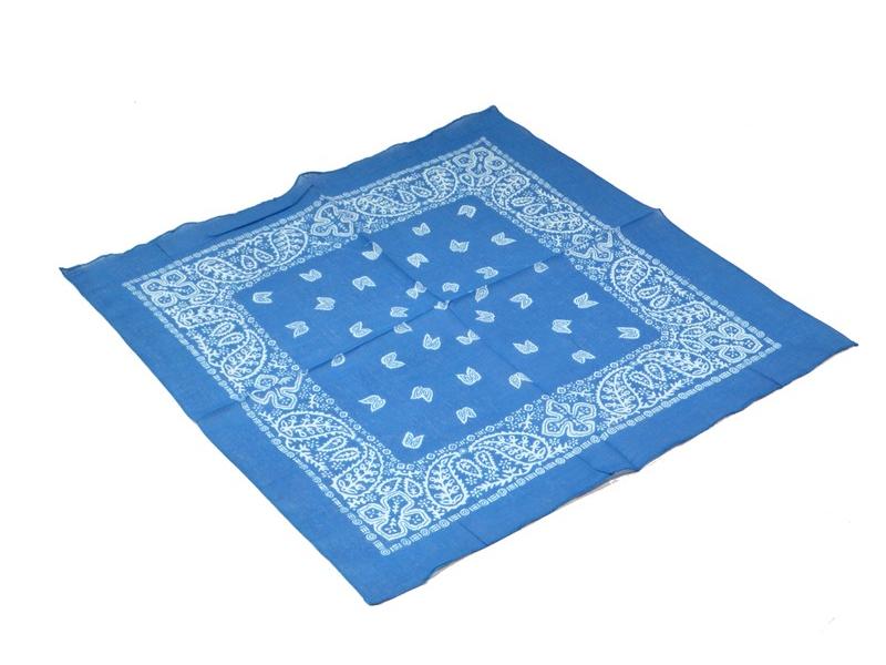 Šátek s paisley potiskem, blankytný, 50x50cm