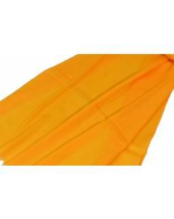 Žlutá pašmína s jemným paisley vzorem, 80x210cm