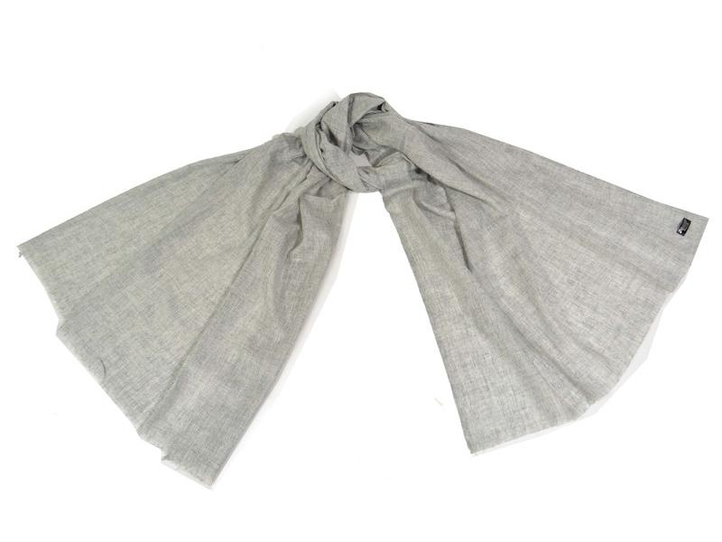 Pravá pašmína, přírodní šedá, 200x70cm