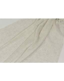 Pravá pašmína, přírodní krémově bílá, 200x70cm