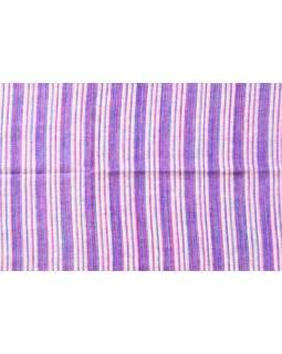 Pruhovaný šál, fialovo-bílý, 100x200cm