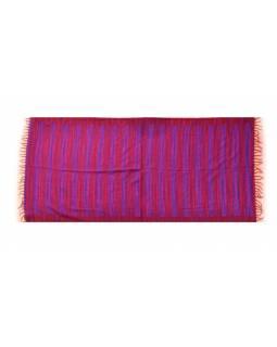 Pruhovaný šál, fialovo-vínový, 100x200cm