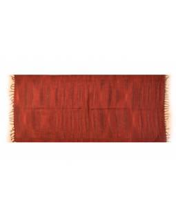 Pruhovaný šál, tmavě červený, 100x200cm