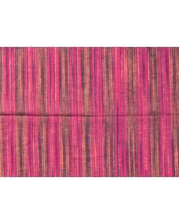 Pruhovaný šál, růžovo-béžová, 100x200cm