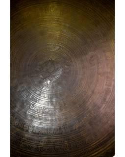 Gong, gravírovaný, ornament, průměr 48,5cm