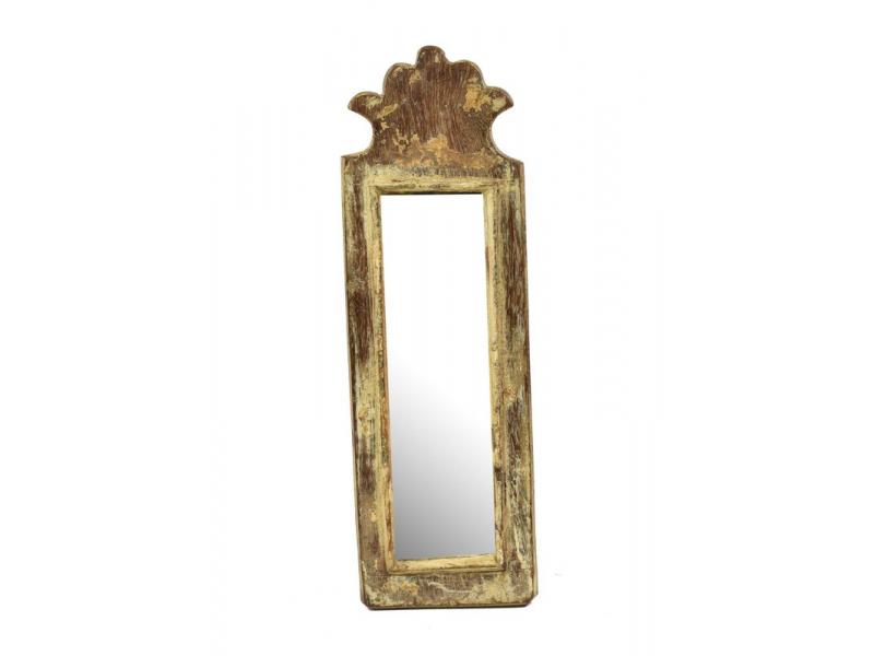 Zrcadlo v rámu z antik dřeva, 12x38x3cm