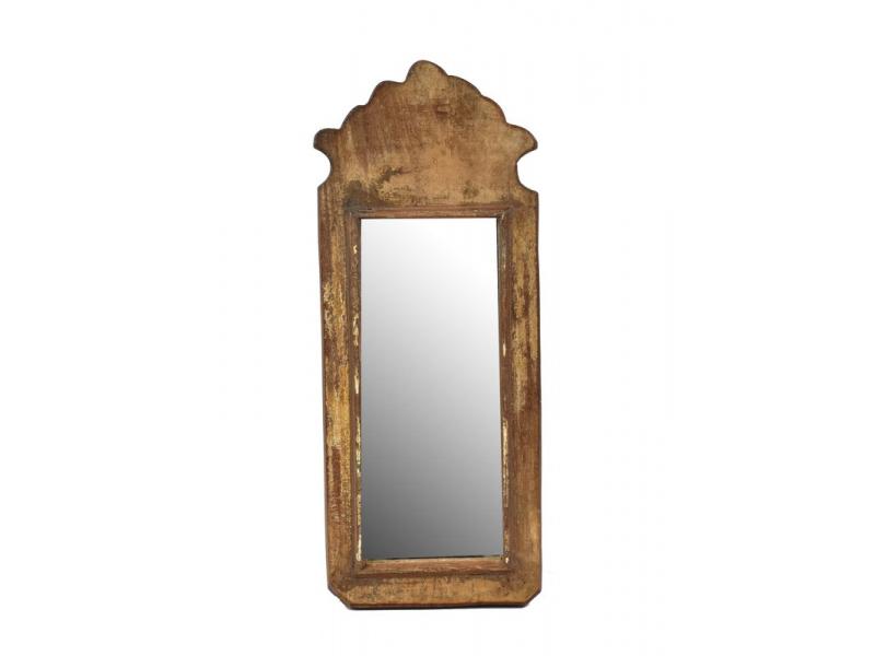 Zrcadlo v rámu z antik dřeva, 15x37x3cm