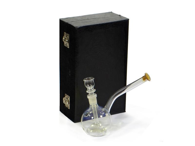 Vodní dýmka, skleněná, barevné sklo