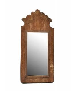 Zrcadlo v rámu z antik dřeva, 17x37x3cm