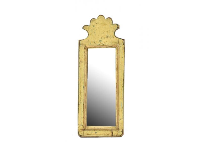 Zrcadlo v rámu z antik dřeva, 14x37x3cm