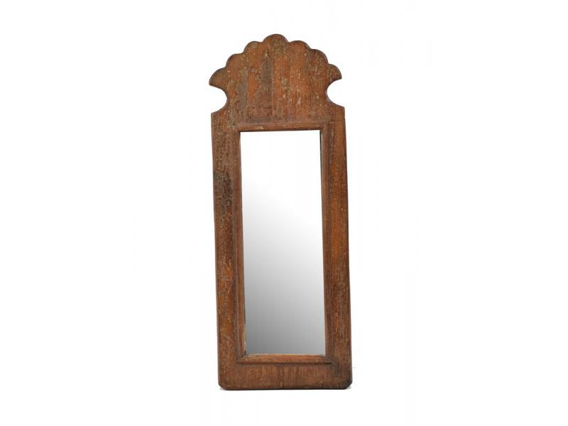 Zrcadlo v rámu z antik dřeva, 15x38x3cm