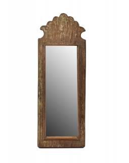 Zrcadlo v rámu z antik dřeva, 16x45x3cm