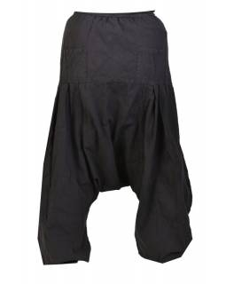 Černé unisex turecké kalhoty