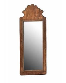 Zrcadlo v rámu z antik dřeva, 18x48x3cm