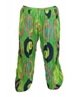 "Kalhoty balonové, ""Disco design"", zelené, stonewash"