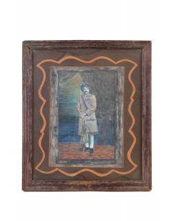 Stará kolorovaná fotografie Rajastanu, antik, 29x34cm