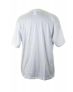 Bílé triko s krátkým rukávem, potisk Buddha