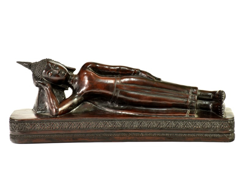 Narozeninový Buddha, úterý, pryskyřice, hnědý,  50cm