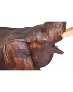 Slon - tropické dřevo 127cm (E048c)