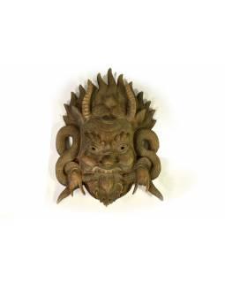 Vyřezávaný maska, Cheppu, ruční práce, malovaný, dřevo, 23x