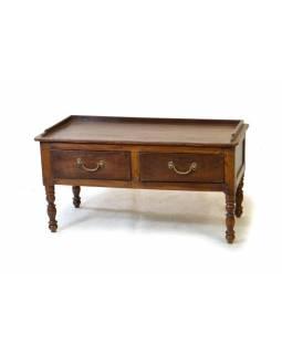 Odkládací stolek se šuplíkem z teakového dřeva, 88x43x46cm