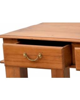 Konferenční stolek z teakového dřeva, tři šuplíky, 153x76x46cm