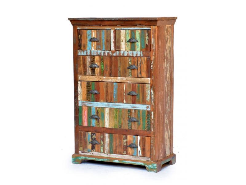 "Komoda z antik teakového dřeva, ""GOA"" styl, 91x45x139cm"