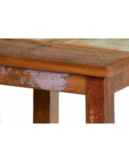"""Stolička z antik teakového dřeva, """"GOA"""" styl, 30x30x30cm"""