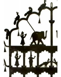 Kovová plastika, stojánek na svíčky, 100x165x35cm