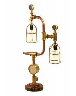Železná lampička z recyklovaných součástek, 43x19x88cm