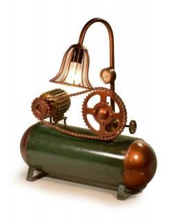 Železná lampička z recyklovaných součástek, 55x20x65cm