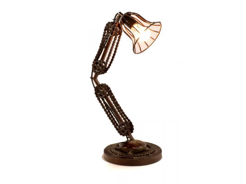 """Lampička v designu """"Steamp punk"""" z recyklovaných součástek, 35x24x60cm"""