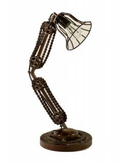 Železná lampička z recyklovaných součástek, 35x24x60cm