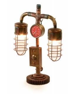 Železná lampička z recyklovaných součástek, 40x20x63cm