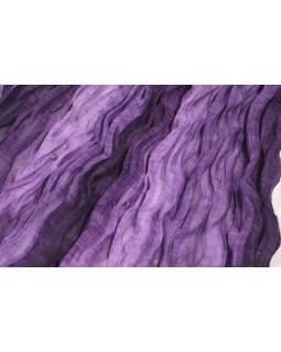 Šátek, tmavě fialová batika, mačkaná úprava, 110x170cm