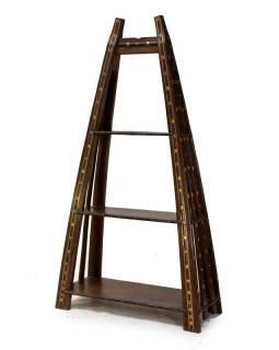 Teakový regál vyrobený ze starého povozu, 100x42x183cm